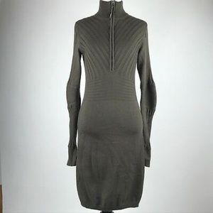 Athleta ribbed cable knit sweater dress green XXS